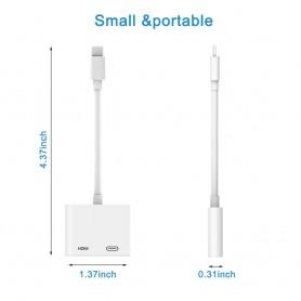 Adaptateur HDMI Lightning Digital AV Convertisseur 4K Cable Usb 1080P HD iPhone X/11/8P/6S/7P/iPad Air/iPod